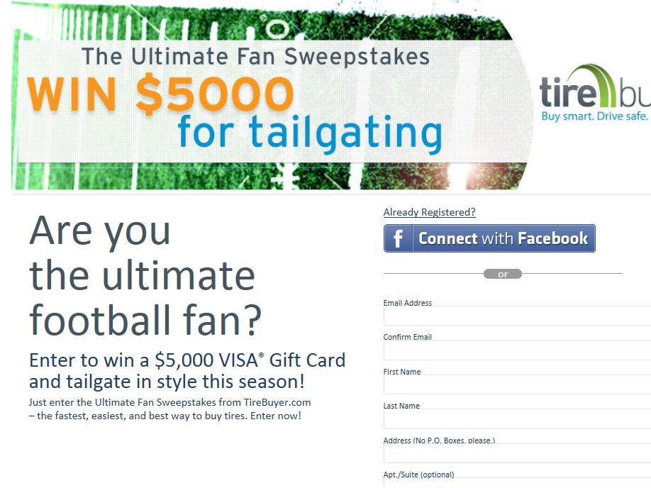 TireBuyer.com Ultimate Fan Sweepstakes