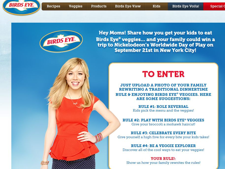 Re-write the Dinner Rules Sweepstakes