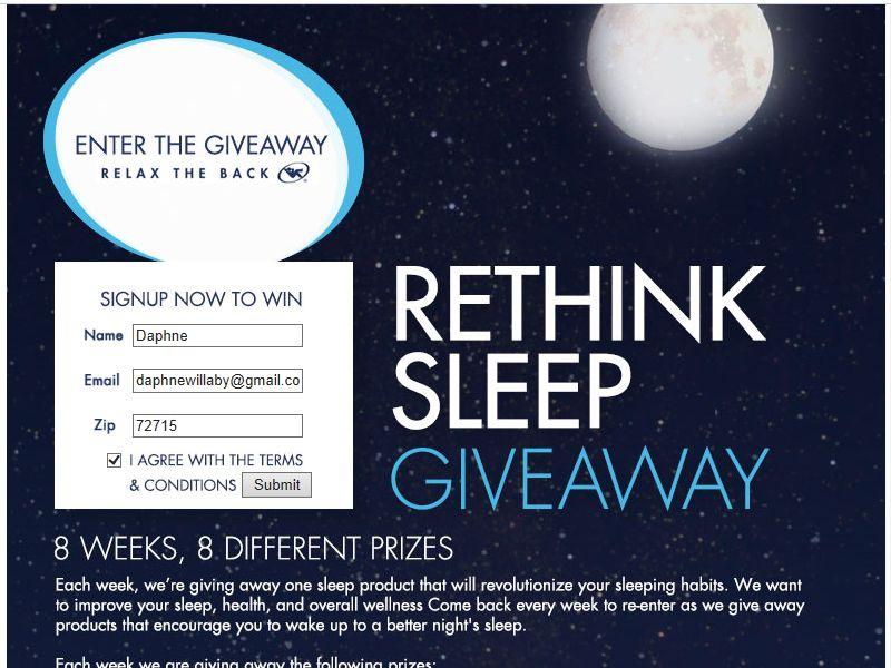 Rethink Sleep Giveaway