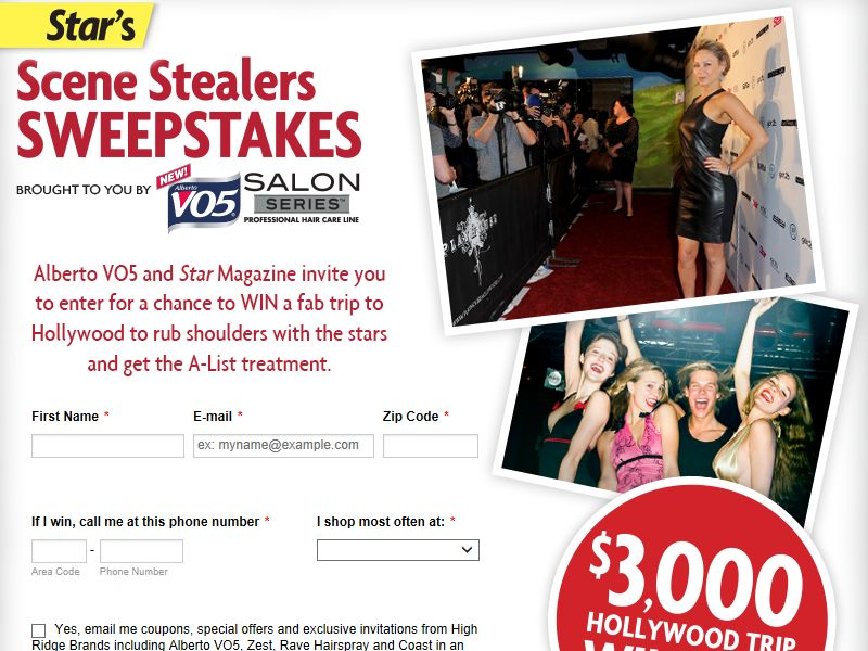 "Star's ""Scene Stealers"" Sweepstakes"