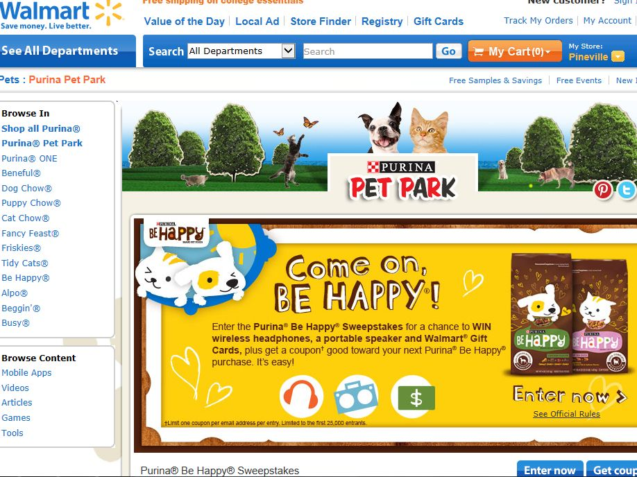 Purina Be Happy Sweepstakes