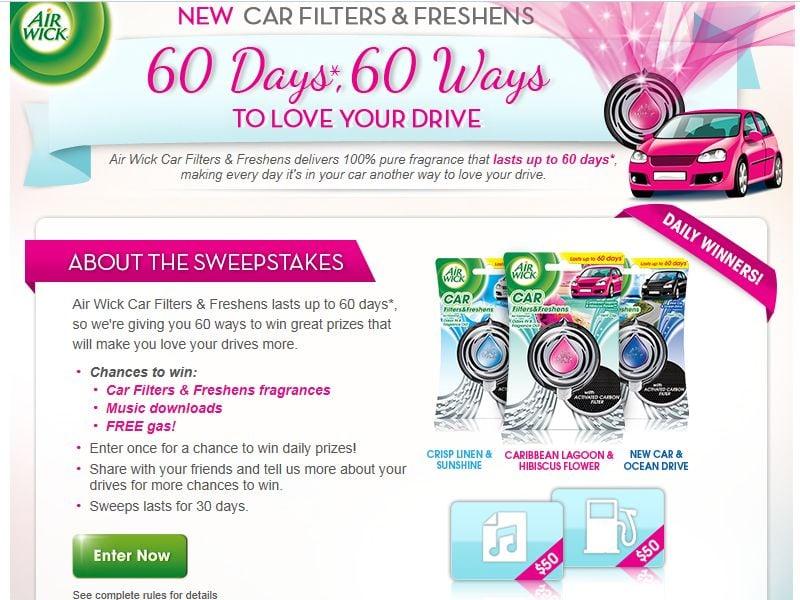Air Wick 60 Days, 60 Ways Sweepstakes