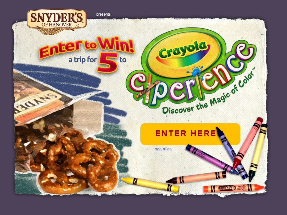 2013 Crayola Experience Sweepstakes