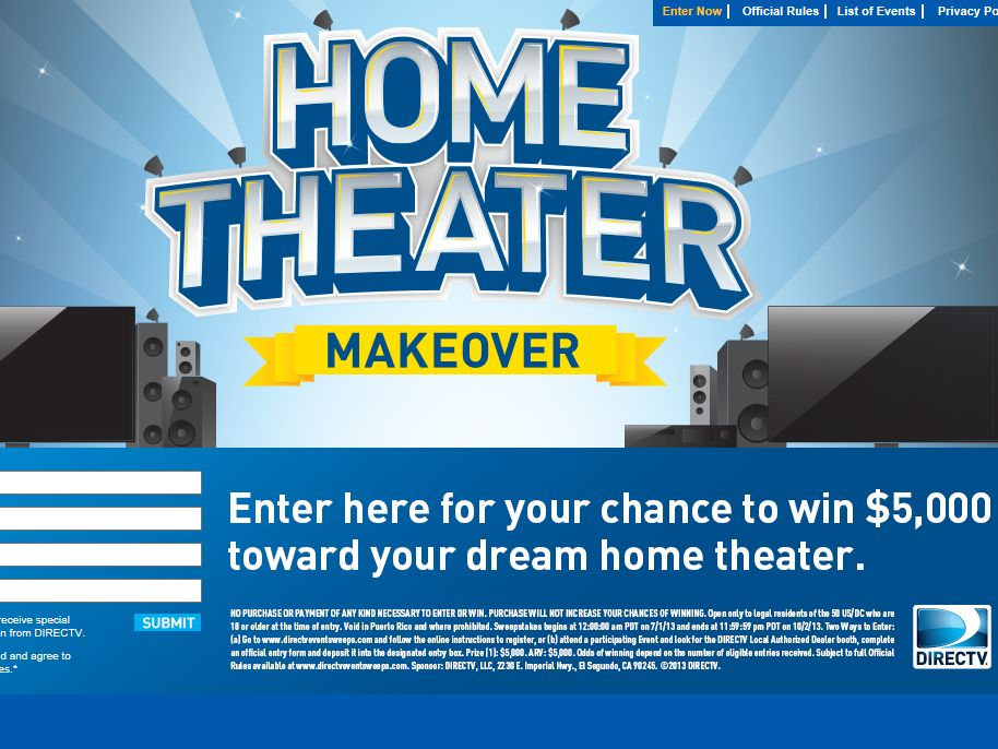 DIRECTV Gift Card Sweepstakes