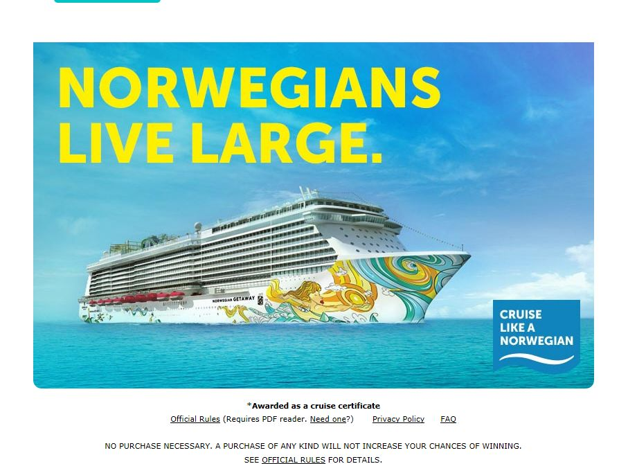 USA TODAY Experience Cruise Sweepstakes