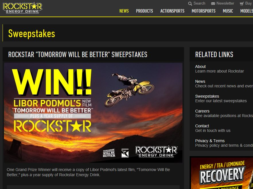 Rockstar 'Tomorrow Will Be Better' Sweepstakes
