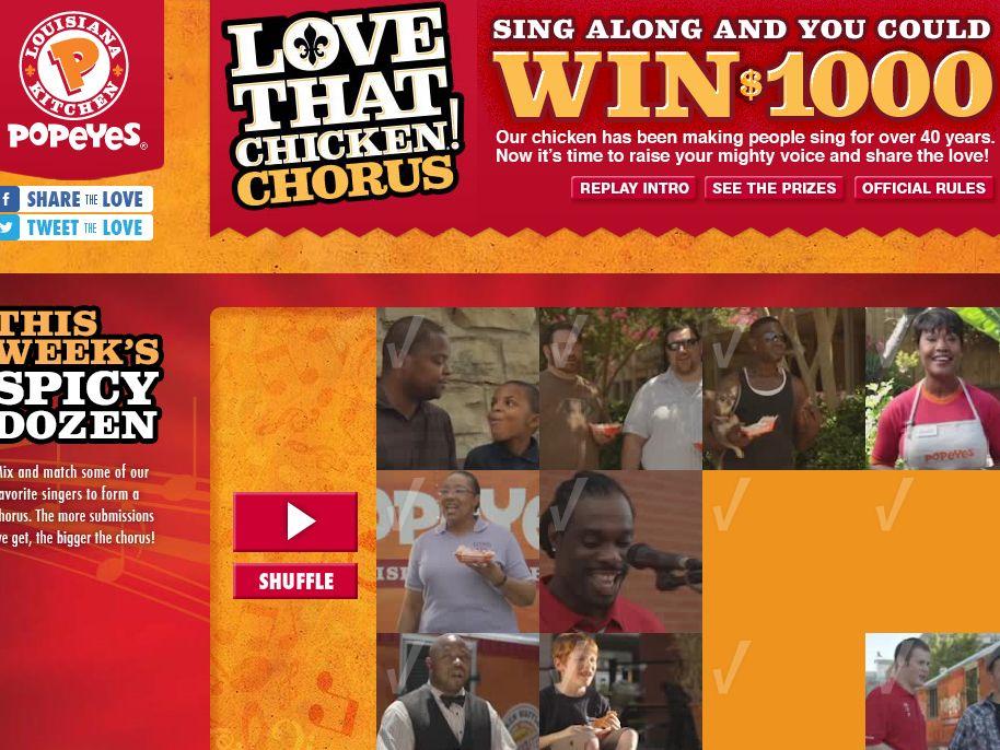 "Popeyes ""Love That Chicken"" Video Contest"