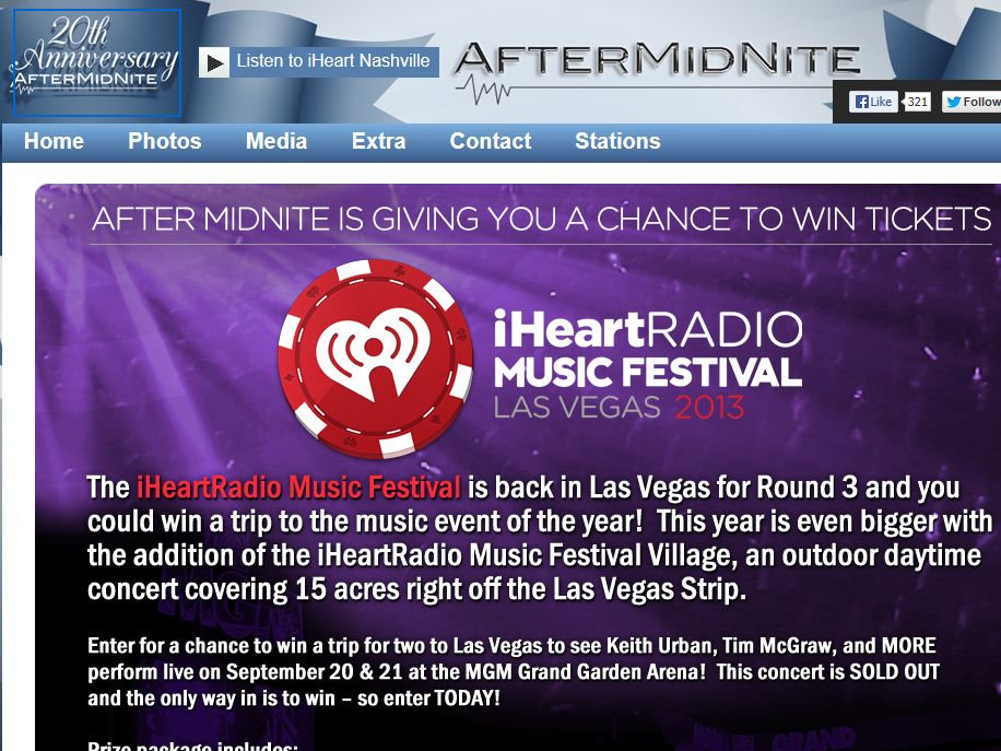 After MidNite's iHeartRadio Music Festival Sweepstakes
