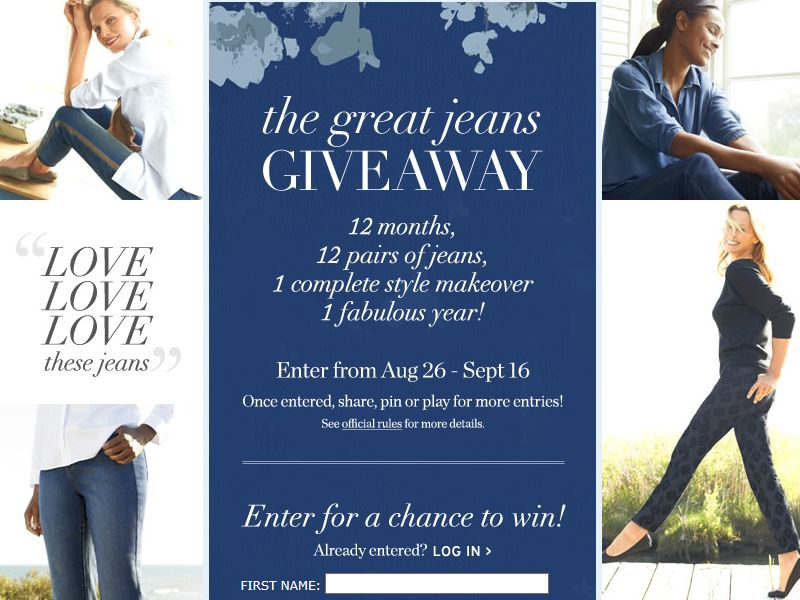 Coldwater Creek Great Jeans Giveaway Sweepstakes