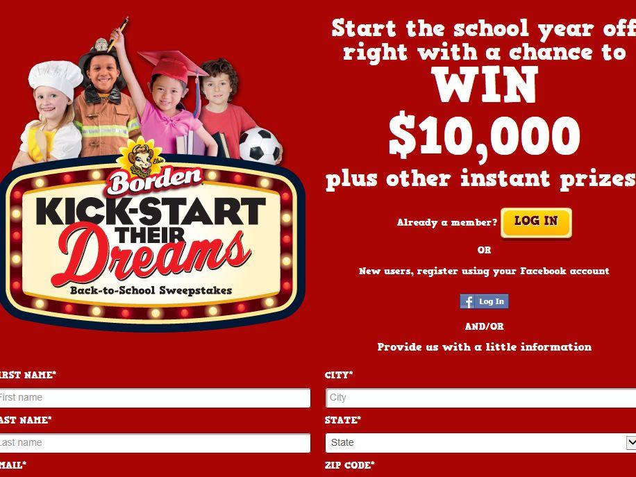 Borden Kick-Start their Dreams Promotion - Limited States