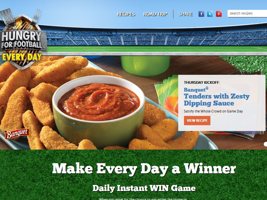 Hungry for Football Sweepstakes