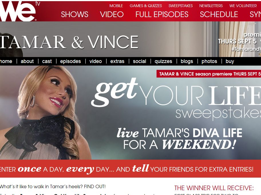 WEtv The Get Your Life Sweepstakes