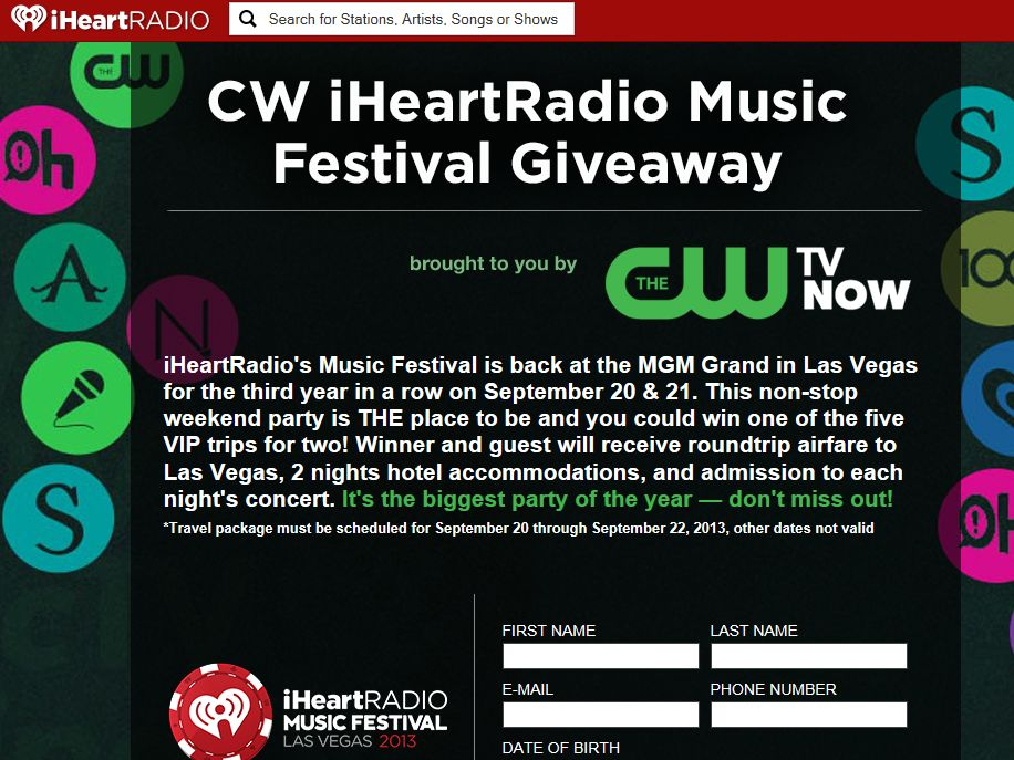 CW iHeartRadio Music Festival Giveaway
