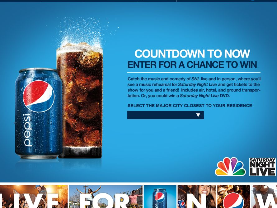 "Pepsi ""Countdown To Now"" Sweepstakes"