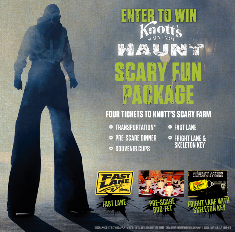 Knott's Scary Farm Scary Fun Prize Pack