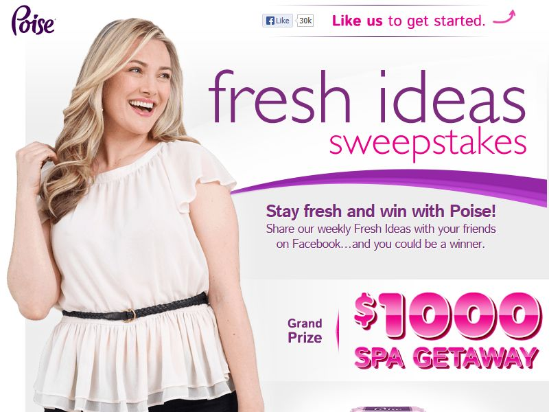POISE Fresh Ideas Sweepstakes