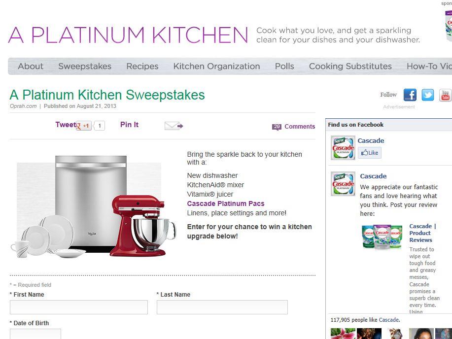 Platinum Kitchen Sweepstakes