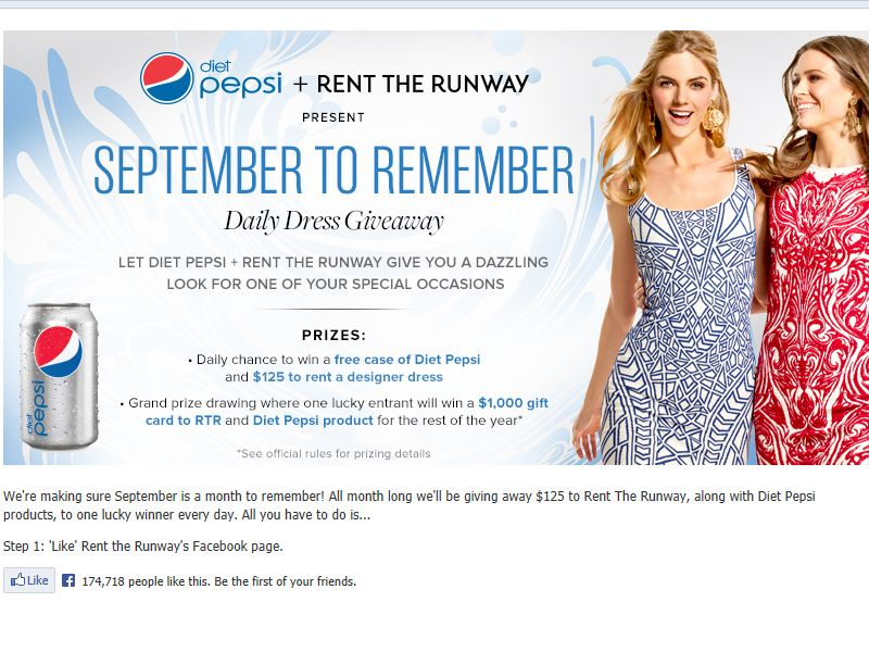 Rent the Runway + Diet Pepsi's Fall Style Star Sweepstakes
