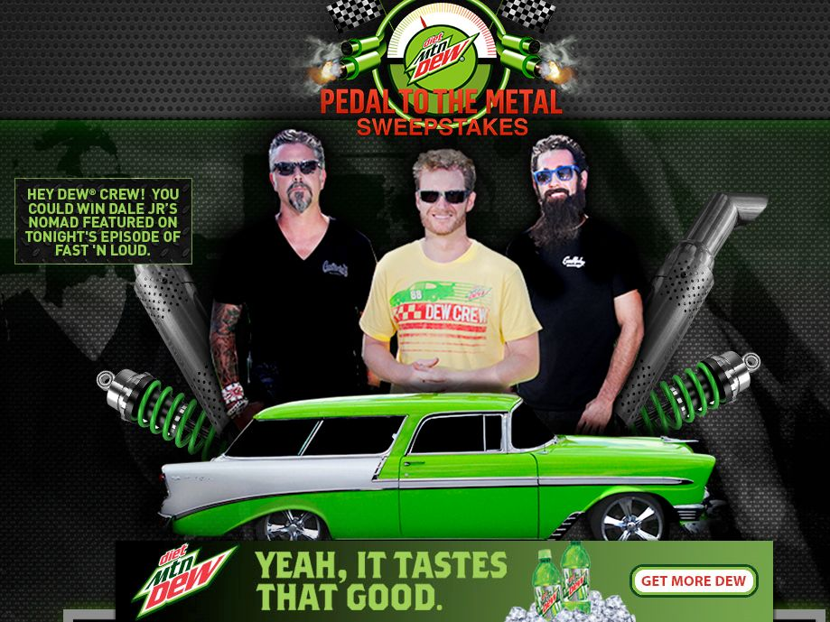 Diet Dew Pedal to the Metal Giveaway