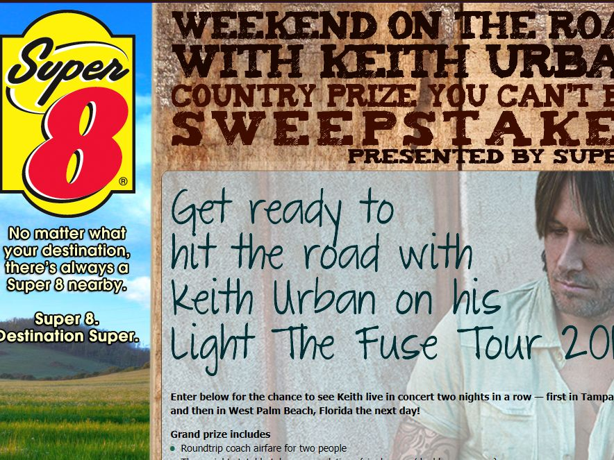 Weekend on the Road with Keith Urban Country Prize You Can't Buy Sweepstakes