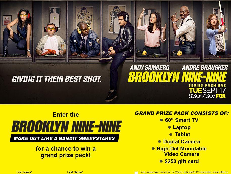 BROOKLYN NINE-NINE Make Out Like a Bandit Sweepstakes