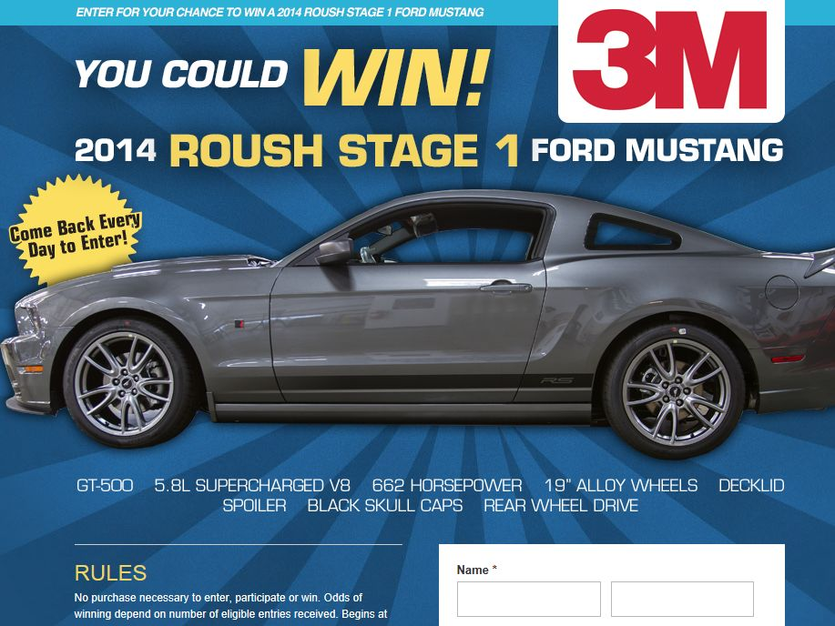 2013 United Stationers Mustang Sweepstakes