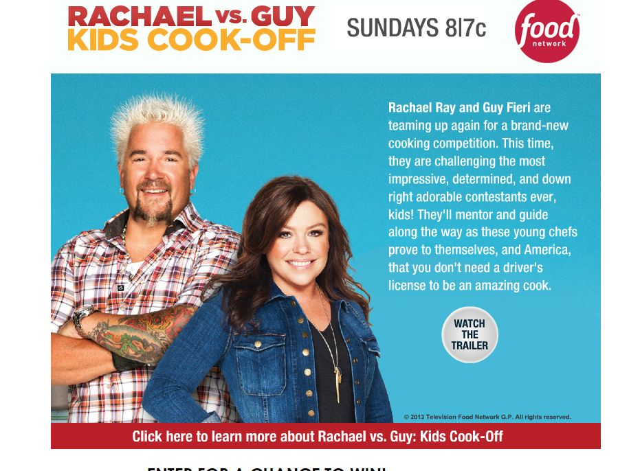Rachael VS Guy Sweepstakes