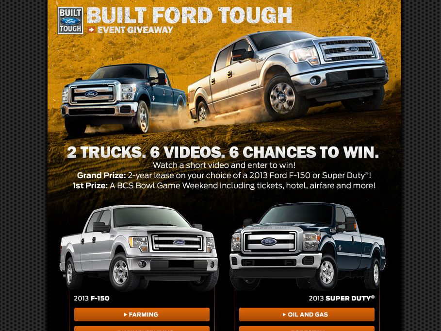2013 Built Ford Tough Event Giveaway