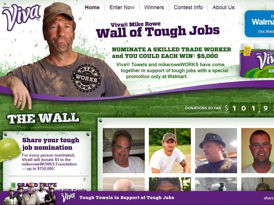 VIVA Mike Rowe Wall of Tough Jobs Sweepstakes