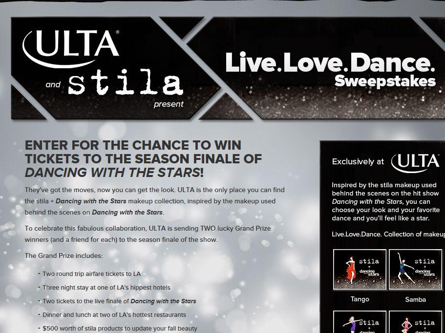 Live. Love. Dance. Sweepstakes