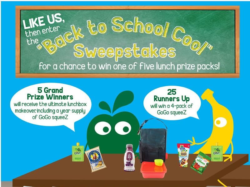 "GoGo SqueeZ ""Back to School Cool"" Sweepstakes"