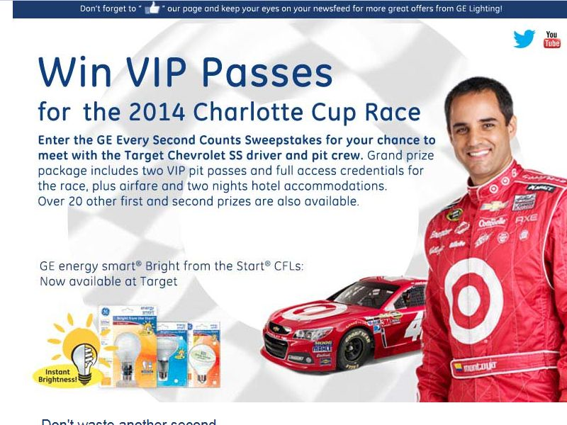 GE Every Second Counts Sweepstakes