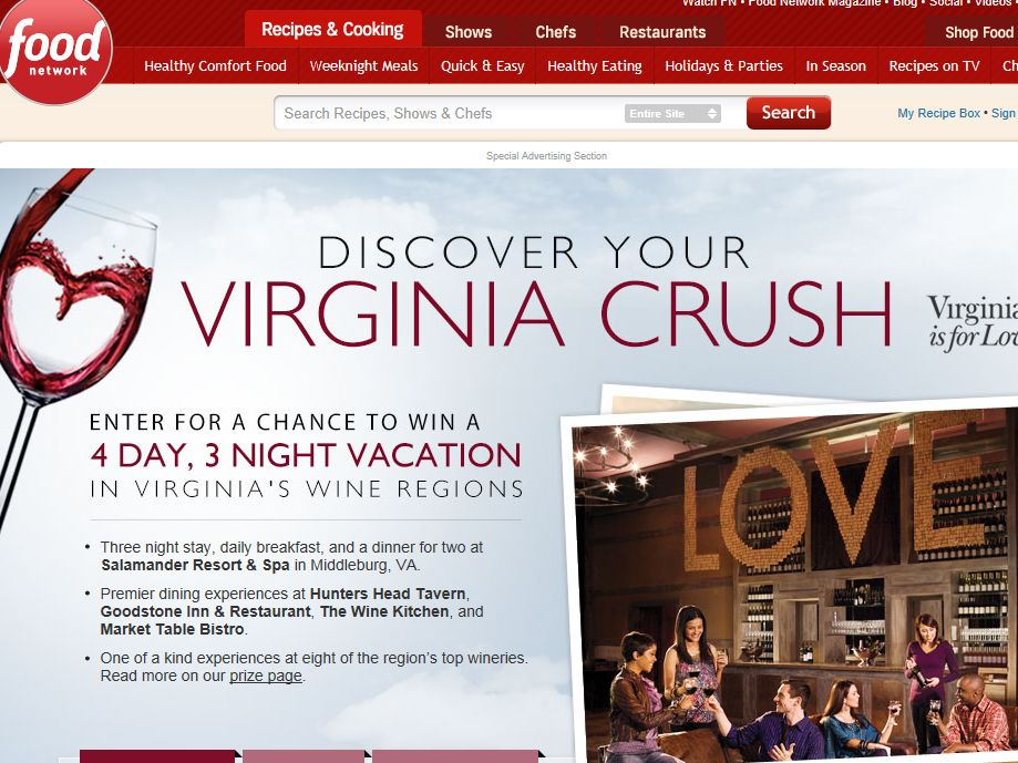 Discover Your Virginia Crush Sweepstakes