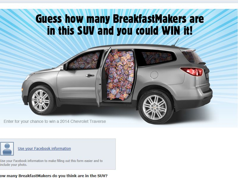 Armour BreakfastMakers: 'Win this Breakfast Place' SUV Challenge
