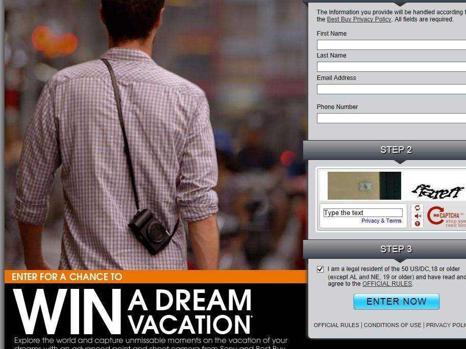 Sony Dream Vacation Sweepstakes