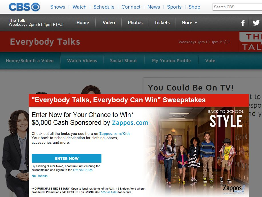 Everybody Talks, Everybody Can Win Giveaway