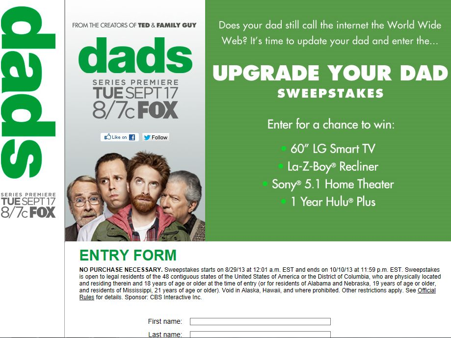 Upgrade Your Dad Sweepstakes