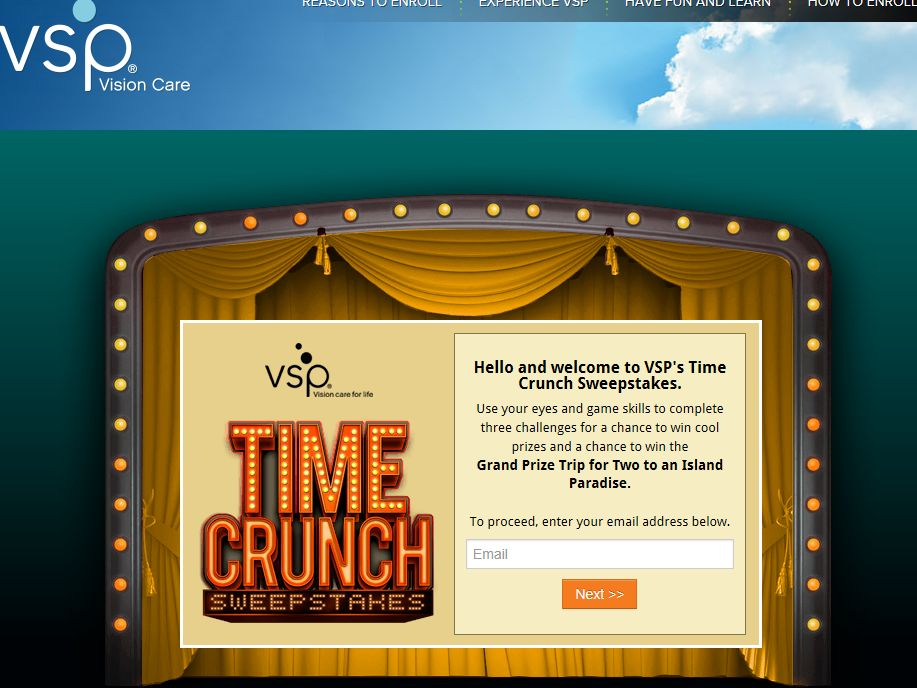 VSP Time Crunch Sweepstakes