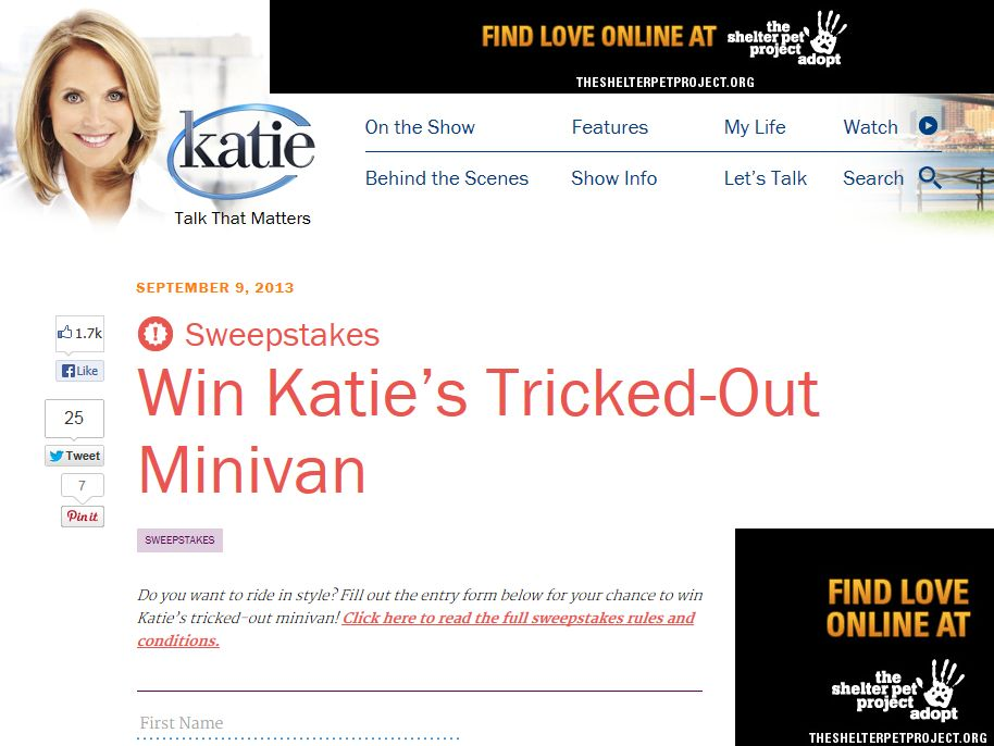 Win Katie's Tricked-Out Minivan Sweepstakes