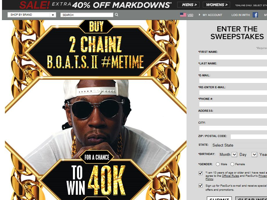 PacSun x Neff Present Win $40K the 2 Chainz Way Sweepstakes