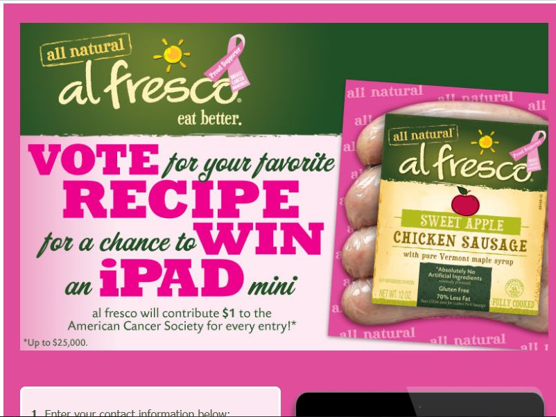 """Vote for Your Favorite al fresco """"PINK"""" Recipe Sweepstakes"""