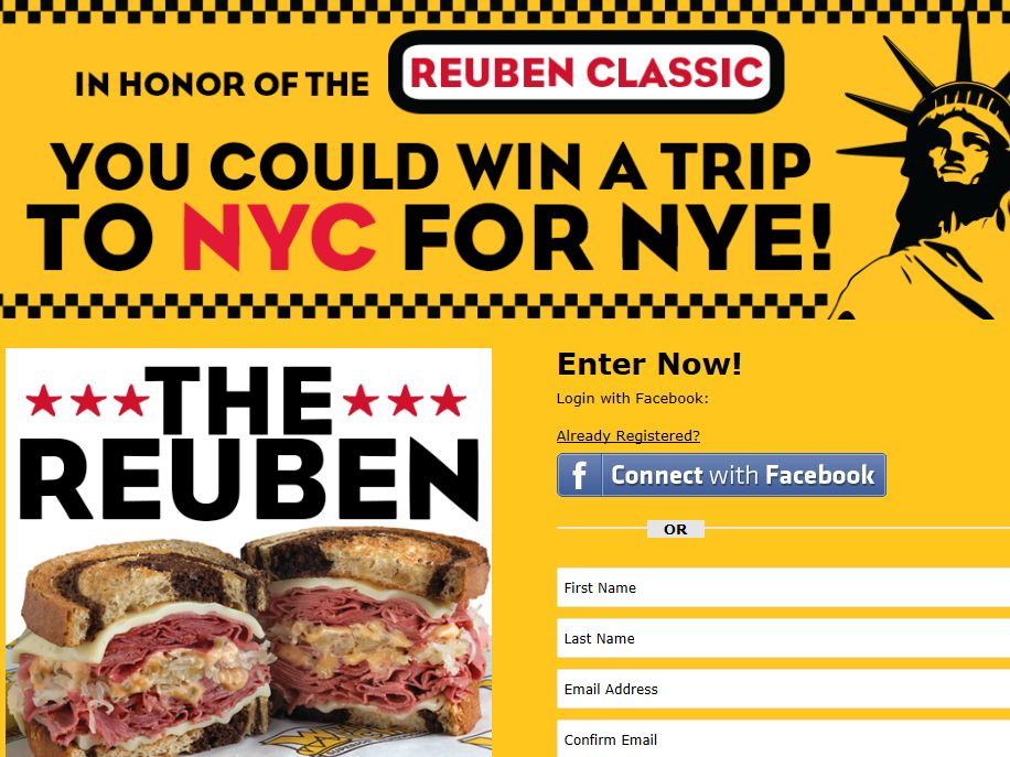 Which Wich NYE in NYC Sweepstakes