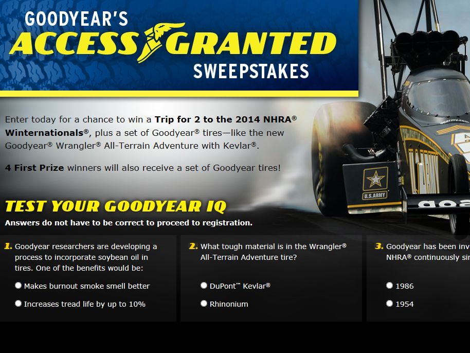 Goodyear's Access Granted Sweepstakes