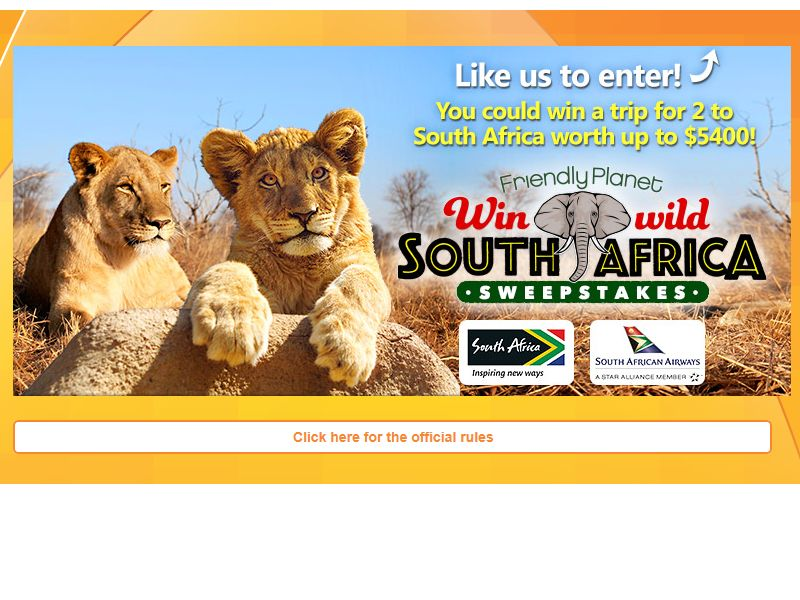 Win Wild South Africa Sweepstakes