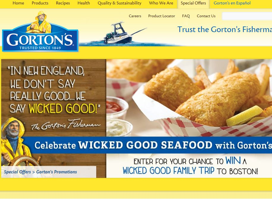 Gorton's Seafood Wicked Good Seafood Sweepstakes