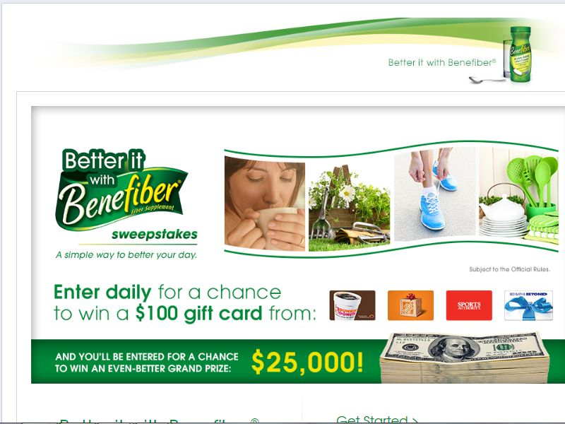 Better it With Benefiber Sweepstakes