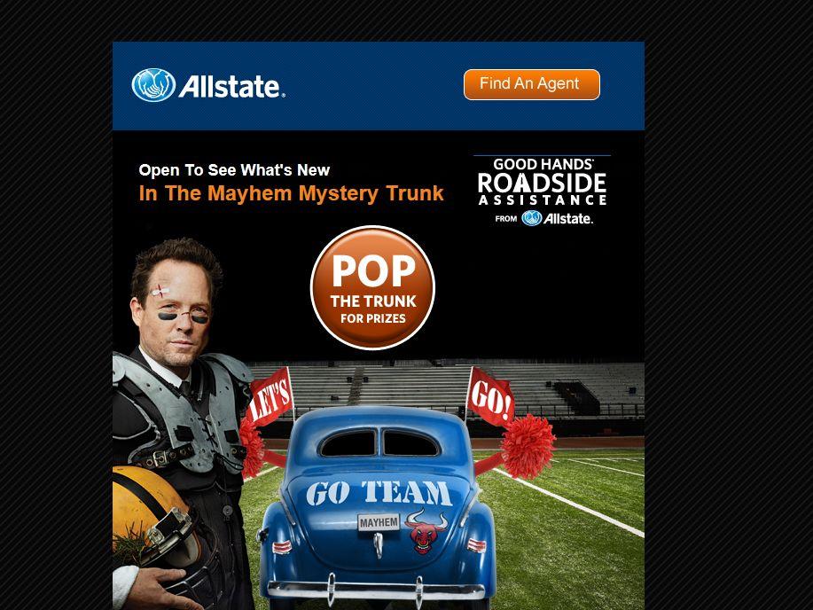"Allstate ""Mayhem Mystery Trunk"" Promotion"