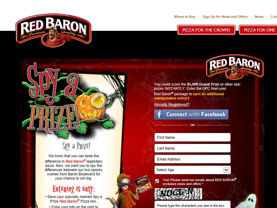 Red Baron Spy a Prize Sweepstakes