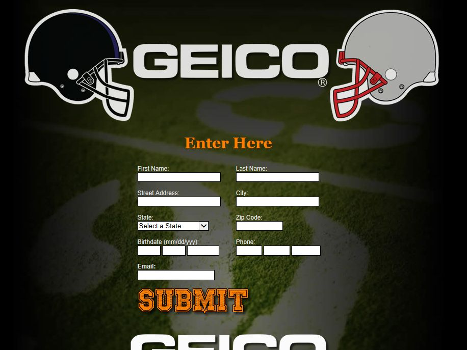 Geico-NFL Promotion