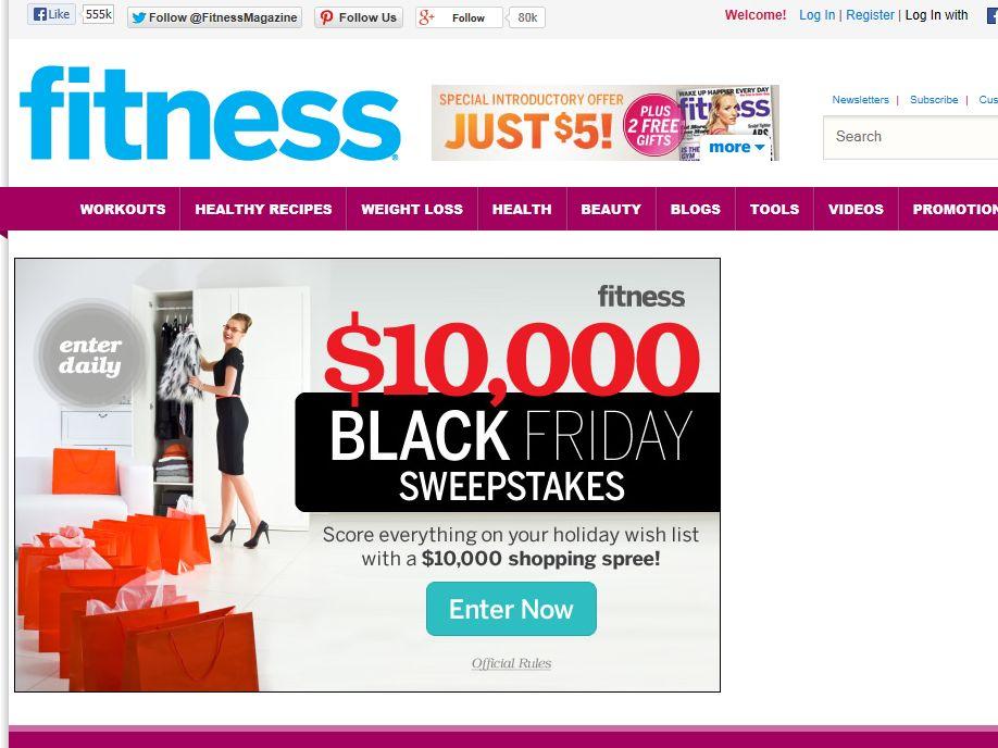 Fitness Magazine $10,000 Shop Sweepstakes